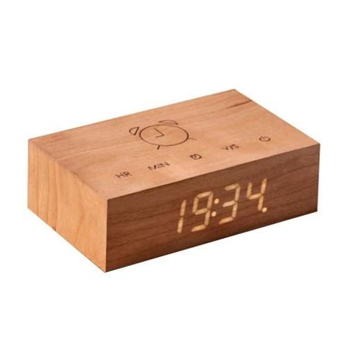 Gingko Flip Click Clock Cherry