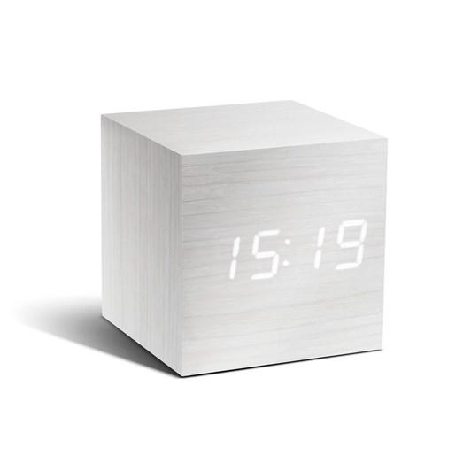 Gingko Cube Click Clock White White Led