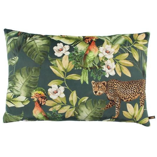 Claudi Bibi Cheetah Cushion Denim