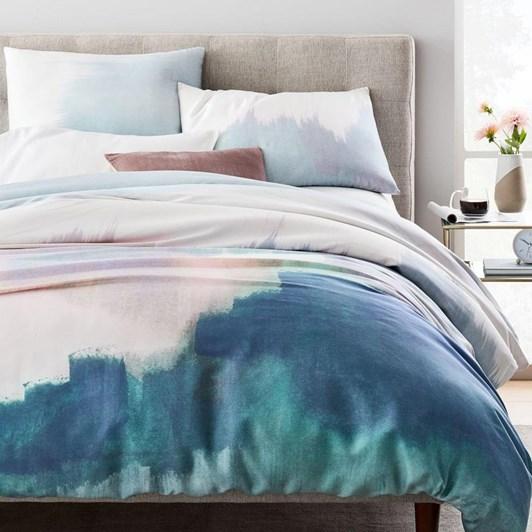 West Elm Tencel Abstract Landscape Pillowcases