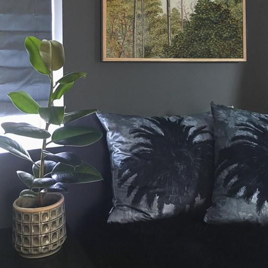 Vanilla Fly Cushion Big Blue Palm 50X50