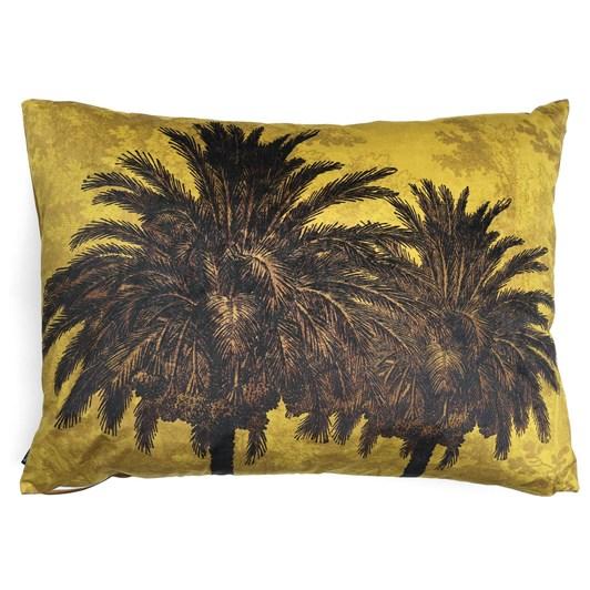 Vanilla Fly Cushion Big Mustard Palm 50X70