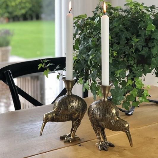 Vanilla Fly Candle Holder Kiwi Bird Brass