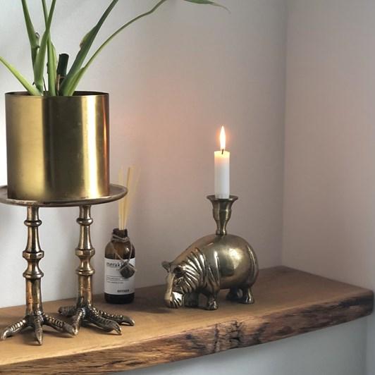 Vanilla Fly Candle Holder Xl Bird Antique Brass