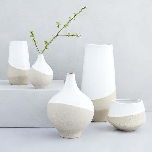 West Elm Half Dipped Vase Med Bowl