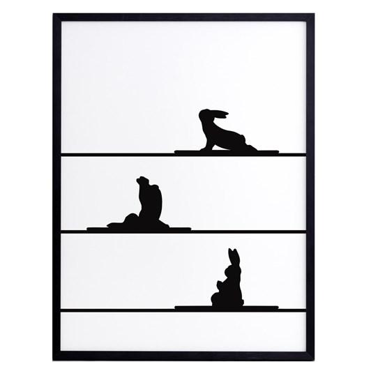Ham Yoga Rabbit Print