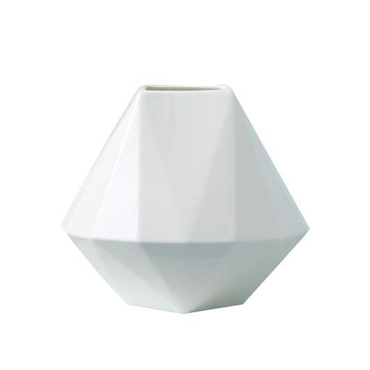 West Elm Faceted Porcelain Vase 3.25 Inches
