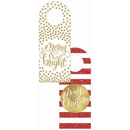 Image Gallery Xmas Gift Tag Pack 6 Bottle Merry