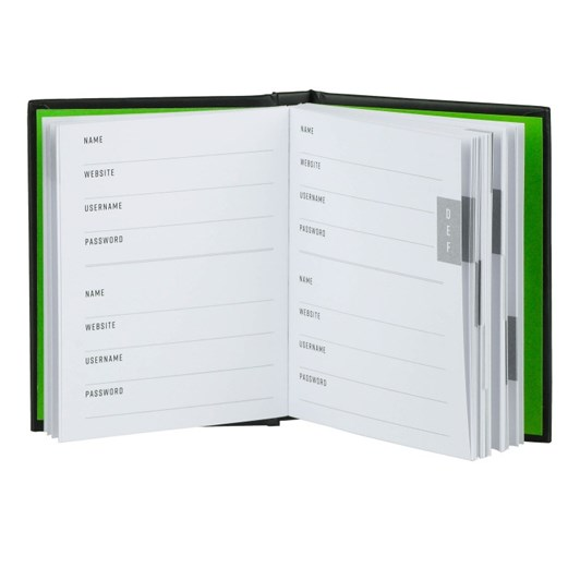 Password Book Black