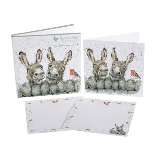 Wrendale Country Set Notecard Pack Donkeys