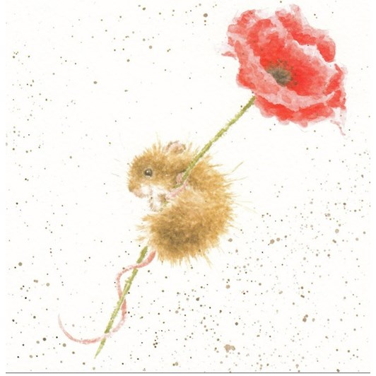Wrendale Country Set Ty Mouse Poppy
