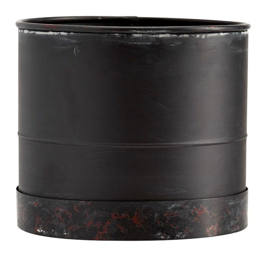 Pottery Barn Blackened Galvi Collection Cachepot