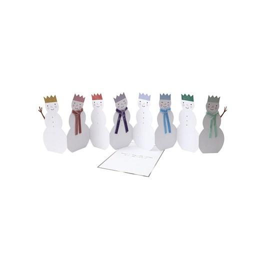 Meri Meri Rainbow Snowmen Concertina Card