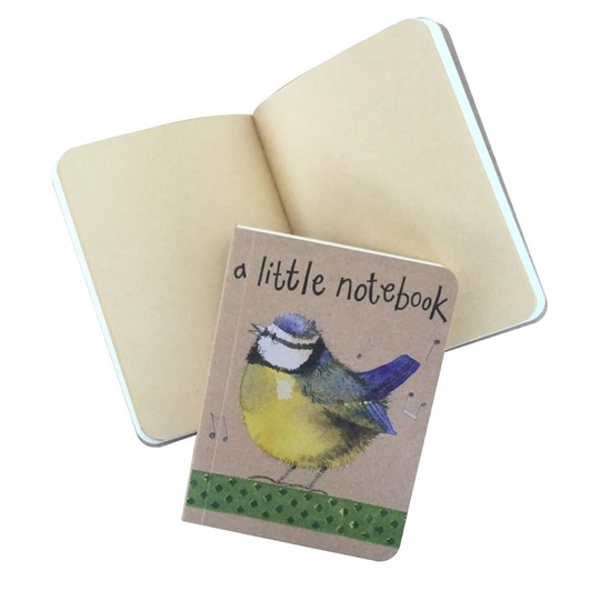 Alex Clark Blue Tits Small Kraft Notebook