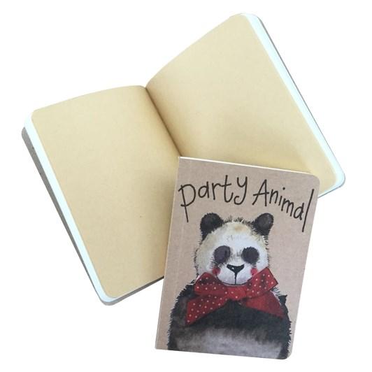 Alex Clark Panda Small Kraft Notebook