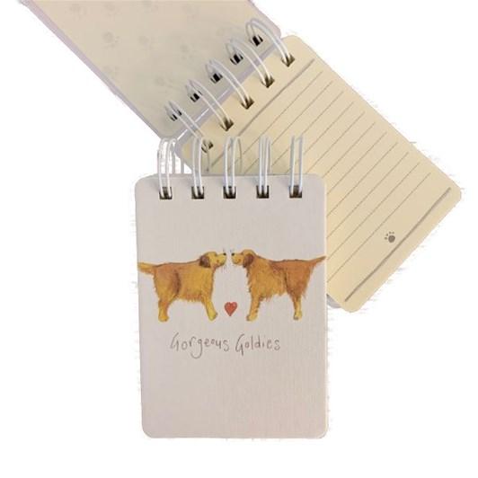 Alex Clark Gorgeous Goldies Small Spiral Notepads