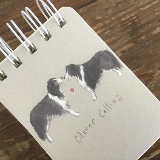 Alex Clark Clever Collies Small Spiral Notepad