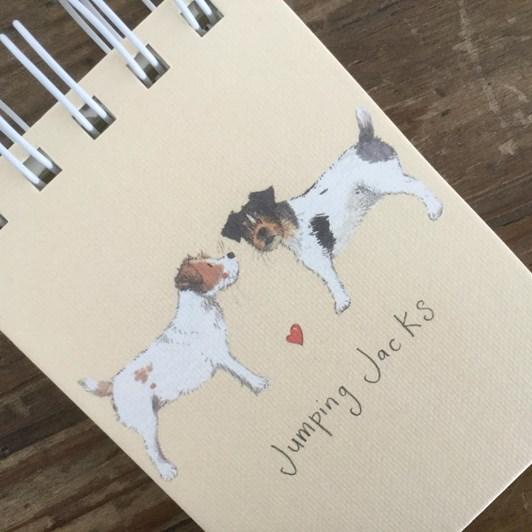 Alex Clark Jumping Jacks Small Spiral Notepad