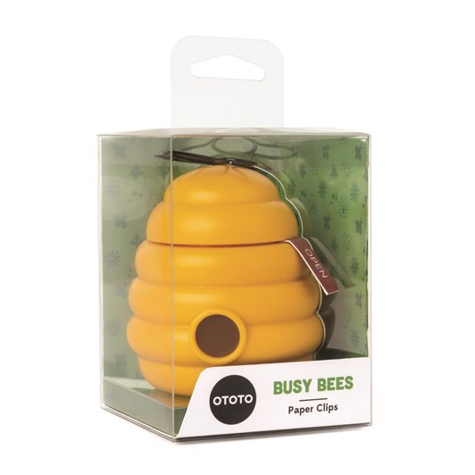 Ototo Busy Bees Paper Clips & Magnetic Hive