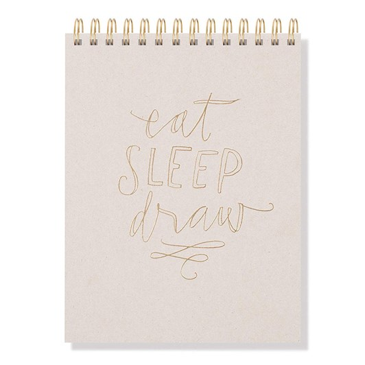 Fringe Eat Sleep Draw Hardcover Spiral Sketch Pads