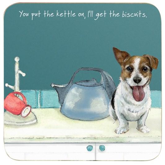 Little Dog Laughed Kettle On Coaster
