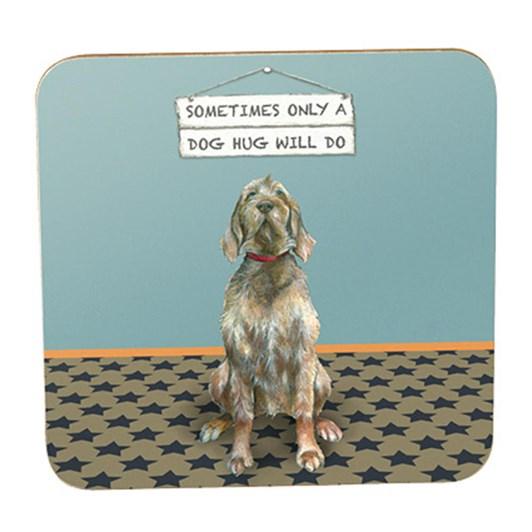 Little Dog Laughed Dog Hug Coaster
