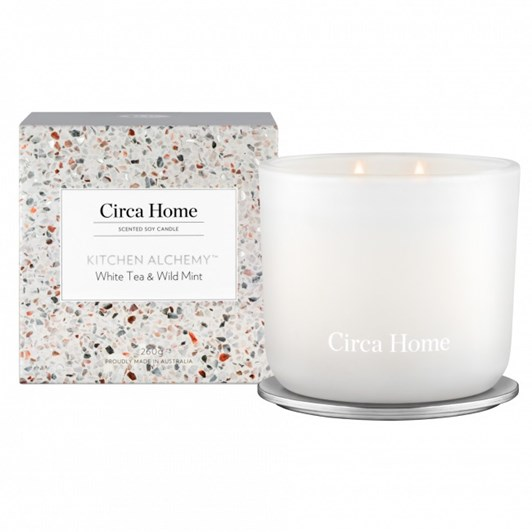 Circa Home Kitchen Alchemy White Tea & Wild Mint Classic Candle 260g