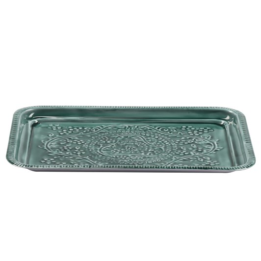 Bazar Deluxe Rectangle Tray Lt Green