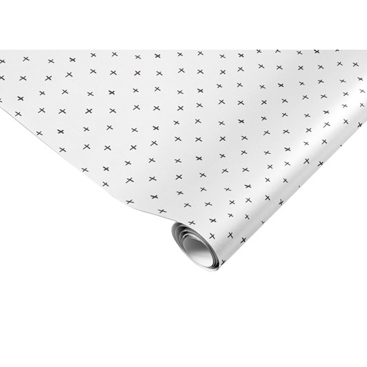 Made Paper Co. Crosses Black N White Gift Wrap Sheet