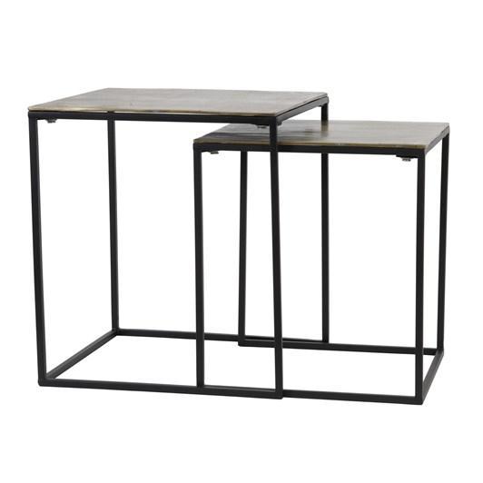 Light & Living Side Table S/2 40X40X45+45X45X50 Cm Banos Antique Bronze