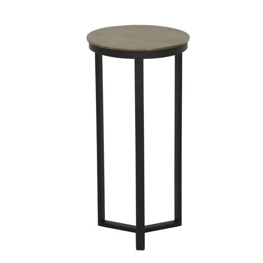 Light & Living Pillar 30X60 Cm Retiro Black+Raw Antique Bronze Side Table