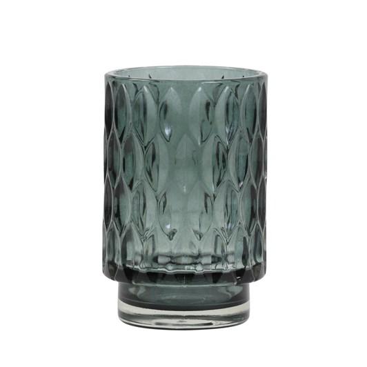 Light & Living Tealight 9X13 Cm Grace Glass Dark Green