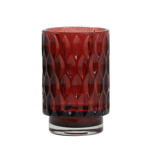 Light & Living Tealight 9X13 Cm Grace Glass Ruby Red