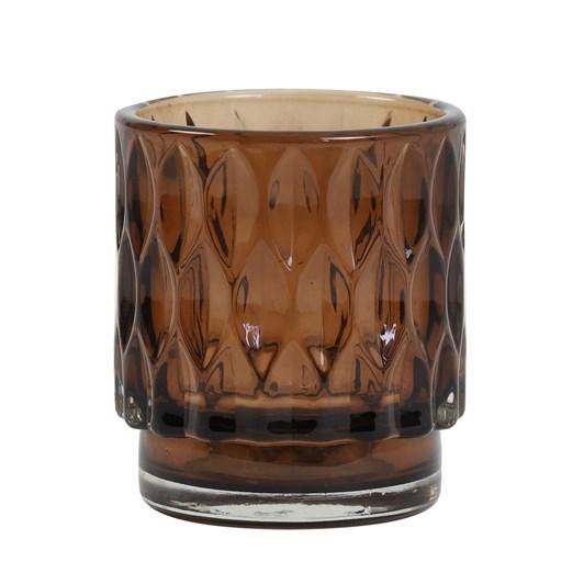 Light & Living Tealight 7X8 Cm Grace Glass Light Brown