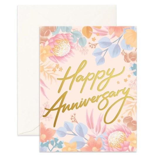 Fox & Fallow Happy Anniversary Floribunda Card