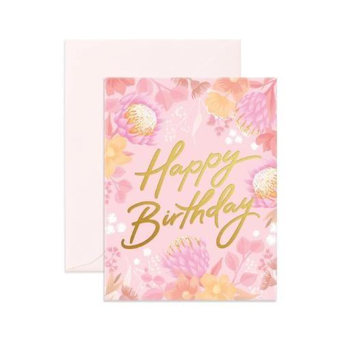 Fox & Fallow Happy Birthday Floribunda