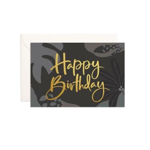 Fox & Fallow Happy Birthday Night Jungle Mini Card