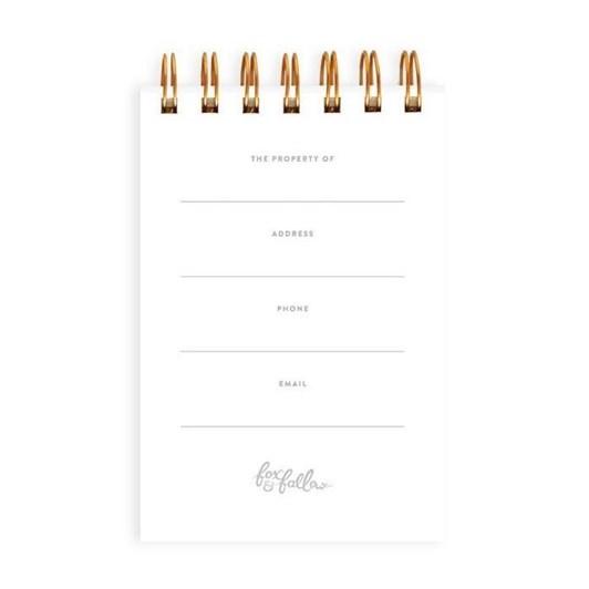 Fox & Fallow The Reporter Mini Spiral Notebook