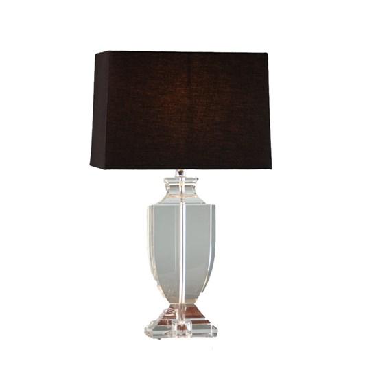 Crystal Urn Lamp with Black Shade