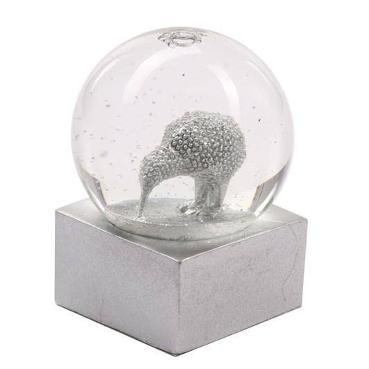DQ&CO 3D Kiwi Snow Globe Silver Dot
