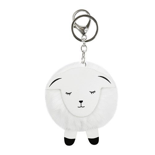 DQ&CO Sheep PomPom Key Ring