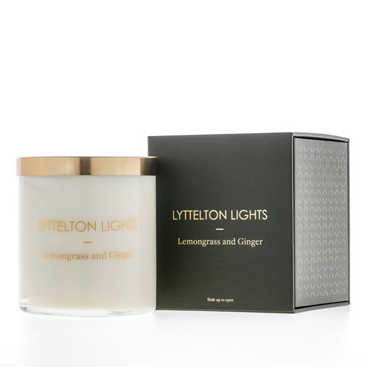 Lyttelton Lights Lemongrass And Ginger Candle