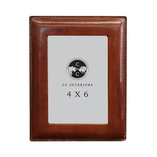 CC Interiors Leather Photo Frame 4x6