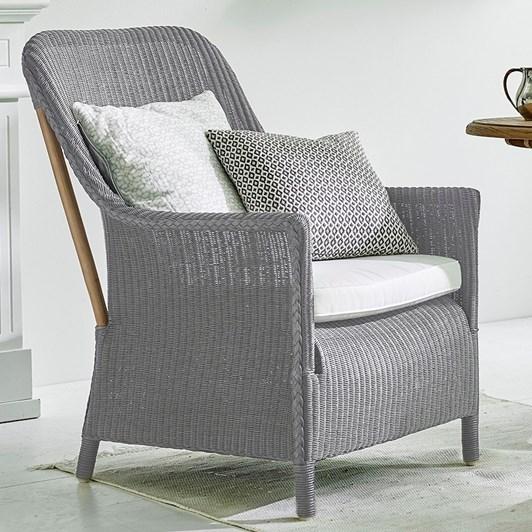 Sika Dawn Chair Grey Loom White Seat Cushion