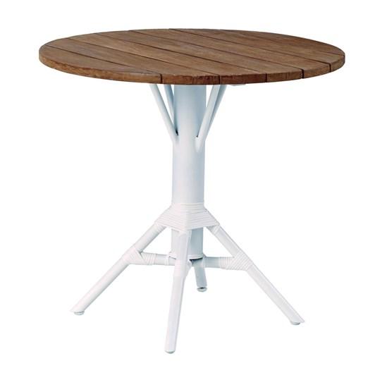 Sika Nicole Round Café Table Teak White Legs