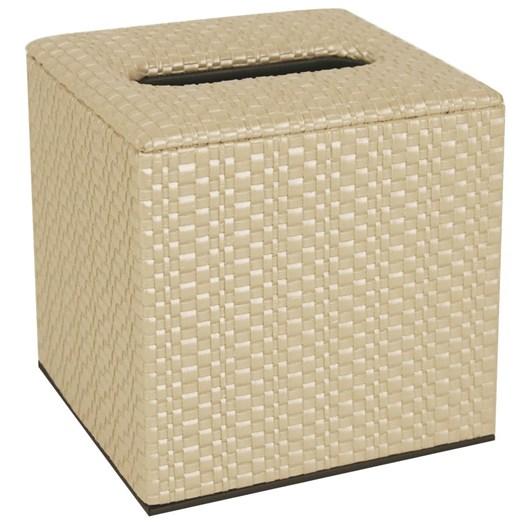 Cube Tissue Box - Cream Weave
