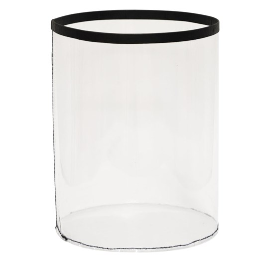 Waste Bin Faux Leather White