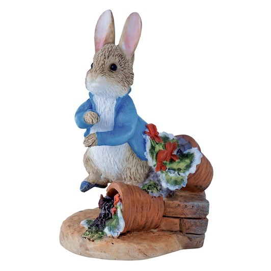 Peter Rabbit With Plant Pot Mini Figurine