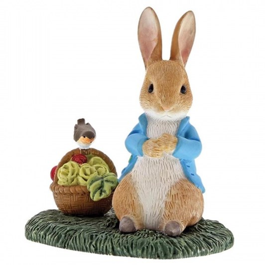 Peter Rabbit With Basket Mini Figurine