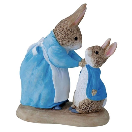 Mrs Rabbit & Peter Mini Figurine